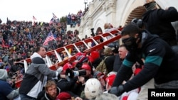 A mob incited by U.S. President Donald Trump stormed the U.S. Capitol building on January 6 as lawmakers attempted to certify the results of the 2020 U.S. presidential election, which Trump lost.