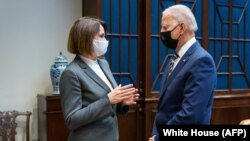 Встреча Светланы Тихановской с президентом США Джо Байденом в Белом доме. Вашингтон, 28 июля 2021 года