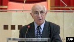 Judge Theodor Meron, the president of the International Criminal Tribunal for the former Yugoslavia