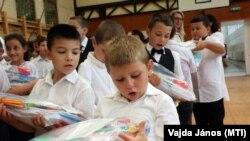 Megyaszói iskolások 2021. szeptember 1-jén