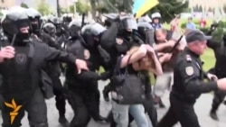 Police Clash With Maidan Supporters In Kharkiv