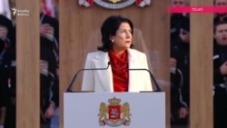 Gürcüstanın yeni prezidenti Salome Zurabishvili and içdi
