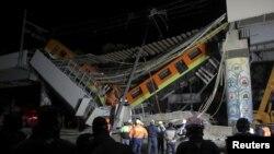 فرو ریختن خط آهن در مکسیکو