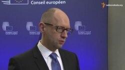 Яценюк у Брюсселі: санкції проти Росії треба продовжувати і посилювати
