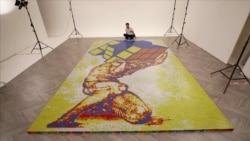 Мозаик од рубикова коцка за 16 часа