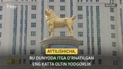 Туркманистон президенти Алабайга олтин ҳайкал ўрнатди