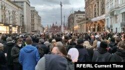Митинг в поддержку Навального в Москве.