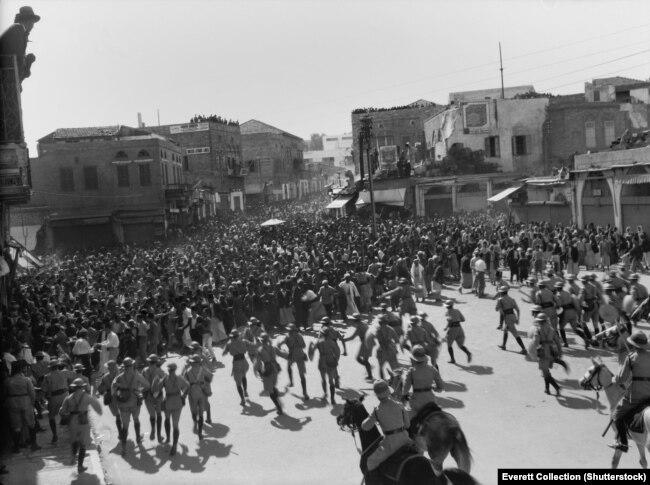 Антыгабрэйскія пратэсты ў Палестыне, Яфа, 1933 год.