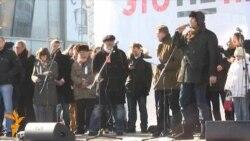 Митинг на Новом Арбате: Вера Кичанова