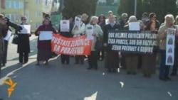 Protest Prijedorčana ispred Suda BiH