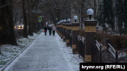 Первый снег в Симферополе, 22 декабря 2020 года