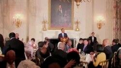 مراسم افطاری باراک اوباما، رئیس جمهور آمریکا، در کاخ سفید