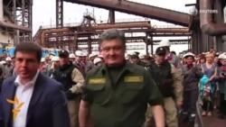 Poroshenko Visits Mariupol, Calls For Peace