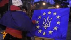 На донецькому Євромайдані намалювали «Євроінтеграцію»