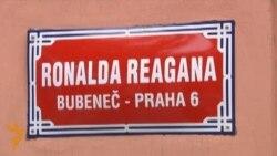 U.S. Diplomats Dedicate 'Reagan Street' In Prague