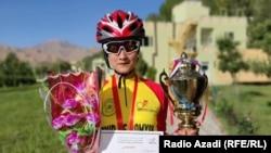 Bamiyan cyclist Najila Sakhizada.