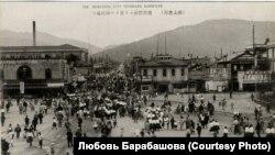 Привокзальная площадь города Тоёхара (Сахалин)