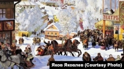 Б.М. Кустодиев. Масленица. 1919 г.