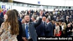 Ujhelyi István sorban áll az Európai Bizottság élére jelölt Ursula von der Leyen megválasztásáról szóló szavazáson, az EP plenáris ülésén
