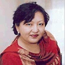 Kazakhstan - journalist Oralgaisha Omarshanova, undated
