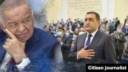 Первый президент Узбекистана Ислам Каримов назначил Хайрулло Бозорова главой (хокимом) Наманганской области за десять месяцев до своей смерти – коллаж.