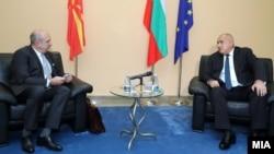 Македонскиот специјален претставник за односите со Бугарија Владо Бучковски и бугарскиот премиер Бојко Борисов во Софија, 10 декември 2020