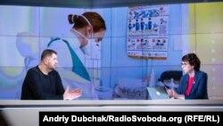 Євген Симонець й Інна Кузнецова у програмі «Суботнє інтерв'ю»