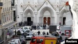 Catedrala Notre Dame de la Nisa, 29 octombrie 2020.
