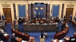 Для ухвалення обвинувального вироку необхідно було 67 голосів сенаторів