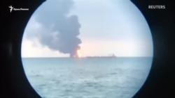 Qırım yalısında eki tanker yana, elâk olğanlar bar (video)