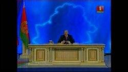 """Лукашэнка адказвае на пытаньне """"Радыё Свабода"""""""