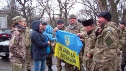 На Днепрапятроўшчыне сустракалі «кібаргаў» пасьля 5 месяцаў АТО