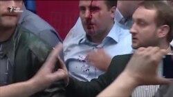 Македонія: антиалбанські протестувальники штурмували парламент (відео)