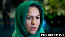 One of four women representing the Afghan government in the Doha peace talks, Koofi is a women's and human rights activist, former member of parliament, and survivor of two armed attacks. (file photo)