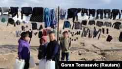 Suriyadakı düşərgələrdən birində uşaqlar (Arxiv fotosu)