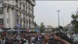Suporterii lui Mir Hossein Musavi protestează