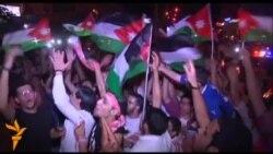 Иорданияликлар Ўзбекистон устидан қозонилган ғалабани нишонламоқда