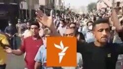 چهلوپنجمین روز تجمع اعتراضی کارگران صنايع نیشکر #هفت_تپه، شوش، خوزستان، ۸ مرداد ۱۳۹۹