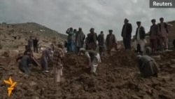 Afghans Dig For Bodies After Landslide