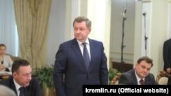 Олег Белавенцев на нараді з повноважними представниками Президента у федеральних округах, 9 квітня 2021 року