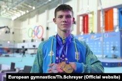 На чемпіонаті Європи Ілля Ковтун виборов 5 золотих нагород та 1 срібну