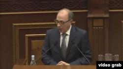 Министр иностранных дел Армении Ара Айвазян, Ереван, 10 февраля 2021 г.