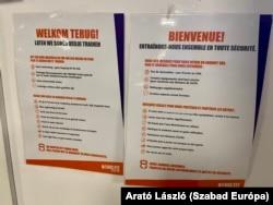 Minden figyelmeztetés franciául és hollandul is olvasható