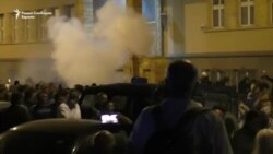 Šok bombama na demonstrante ispred Sobranja
