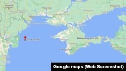 Остров Змеиный на карте