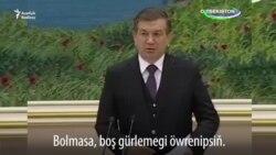 Täze özbek prezidenti işgärlerini 'dalaýar'
