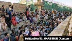 Kabulyň aeroportunyň daşyndaky mähelle
