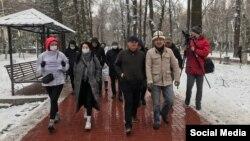 Участники марша «За законность!», 14 марта 2021 г. Фото kloop.kg