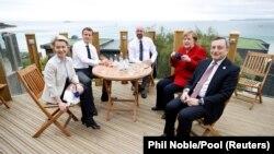 Лидерите на ЕС, Германия , Франция и Италия на среща преди няколко седмици