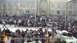 Намози иди Қурбон дар масҷиди Душанбе